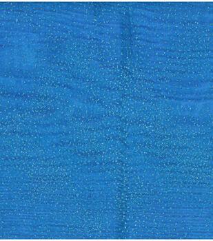 Casa Collection- Glitter Organza Wave Fabrics- Azure Blue