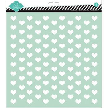 Tiny Heart-stencils 12x12
