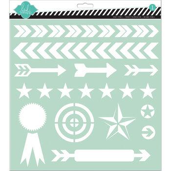 Arrows -stencils 12x12