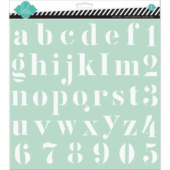 Alpha -stencils 12x12
