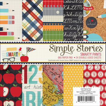 Simple Stories Smarty Pants Paper Pad 6''x6''
