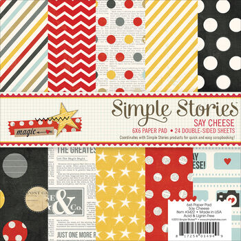 Simple Stories Say Cheese Paper Pad 6''x6''
