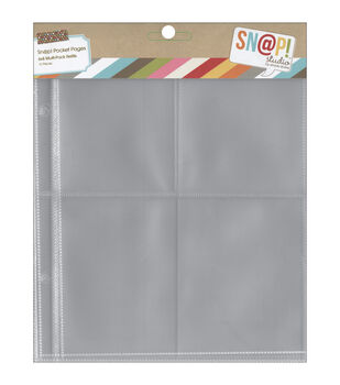 """Sn@p! Pocket Pages For 6""""X8"""" Binders 10/Pkg-Variety Pack"""