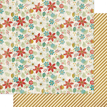 Pink Paislee Snow Village Peppermint Patty Double-Sided Cardstock
