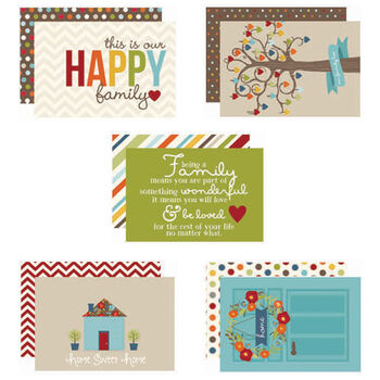 Simple Stories Sn@p! Double-Sided Card Pack Family 4''X6''