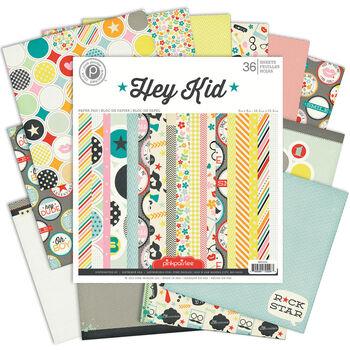 Pink Paislee Hey Kid Single-Sided Paper Pad 6''x6''