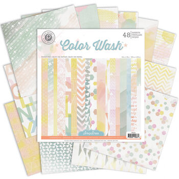 Pink Paislee Color Wash Single-Sided Paper Pad 12''x12''