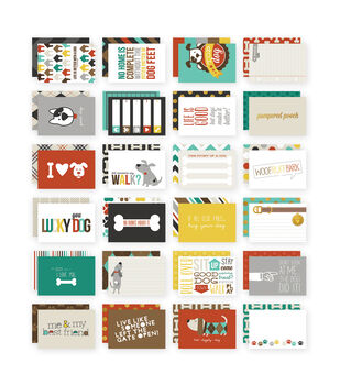 Simple Stories 4X6 24/Pkg - Dog Snap Card Pack