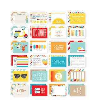 Simple Stories 4X6 24/Pkg - Summer Snap Card Pack