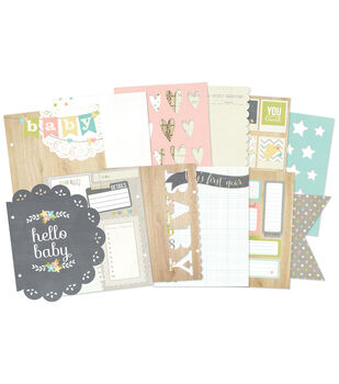 """Sn@p! Double-Sided Journal Pages 6""""X8""""-Hello Baby"""