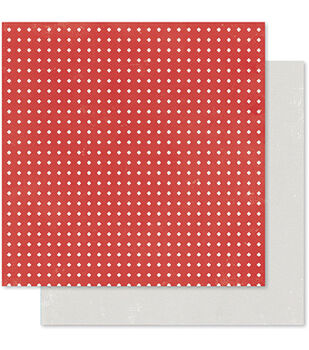 Pink Paislee Merry & Bright Reindeer Double-Sided Cardstock