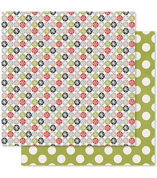 Pink Paislee Merry & Bright Ornament Double-Sided Cardstock