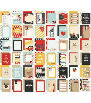 Simple Stories Sn@p! Say Cheese Double-Sided Card Pack 48 cards