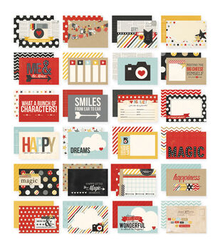 Simple Stories Sn@p! Say Cheese Double-Sided Card Pack 24 cards
