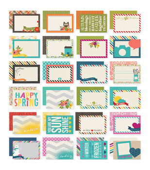 Simple Stories Sn@p! Seasons Double-Sided Card Pack 24 cards