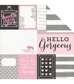 Pink Paislee Bella Rouge Double-Sided Cardstock