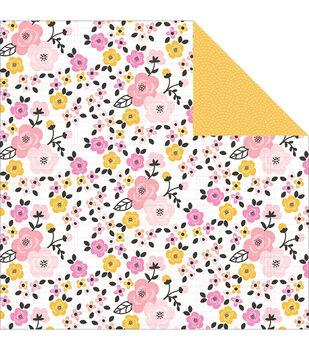 Pink Paislee Bella Rouge Bloom Double-Sided Cardstock