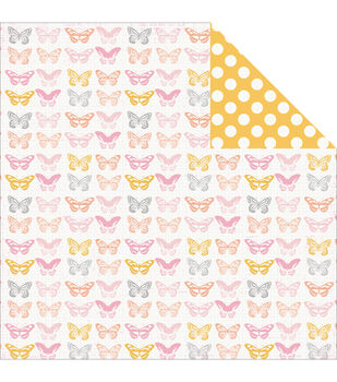 Pink Paislee Bella Rouge Beautiful Double-Sided Cardstock
