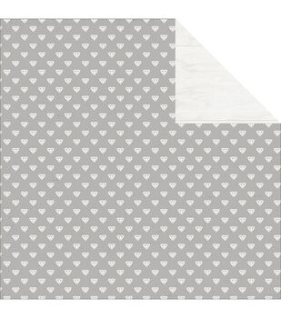 Pink Paislee Bella Rouge Diamond Double-Sided Cardstock