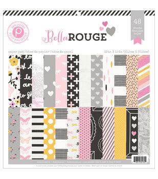 Pink Paislee Bella Rouge Paper Pad 12''x12''