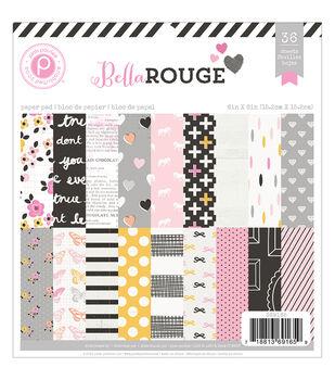 Pink Paislee Bella Rouge Paper Pad 6''x6''
