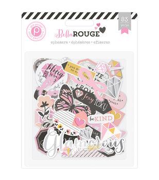 Pink Paislee Bella Rouge Cardstock & Acetate Ephemera Die Cuts