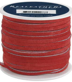 Silver Creek Leather Co. Suede Lace 1/8''x25 Yards-Red