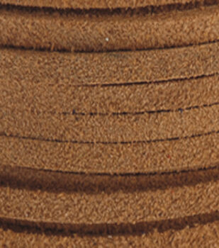 Silver Creek Leather Co. Suede Lace 1/8''x25 Yards-Toast
