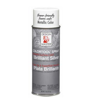 Colortool Satin Metallic Spray Paint 12 Ounces-Brilliant Silver