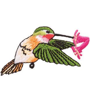 Simplicity Iron-On Applique-Hummingbird W/Flower