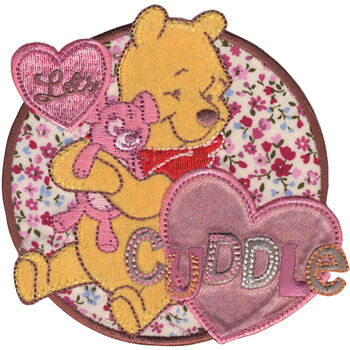 Wrights Disney Winnie The Pooh Let's Cuddle Iron On Applique
