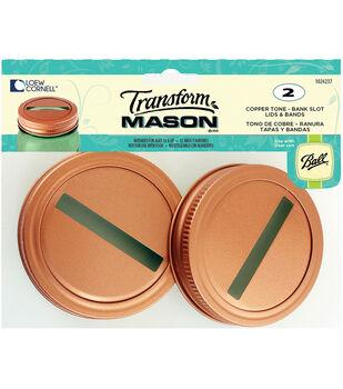 TransformMason Bank Slot Lids & Bands 2/Pkg-Copper