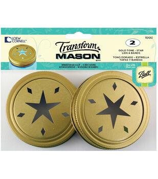 TransformMason Lids & Bands 2/Pkg-Gold Star