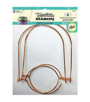 TransformMason Jar Wire Handle 2/Pkg-Copper