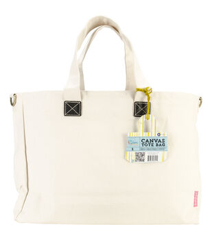 "Prima Canvas Tote 12.5""X24""-Natural"