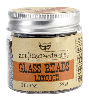 Art Ingredients Glass Beads 2oz-Licorice