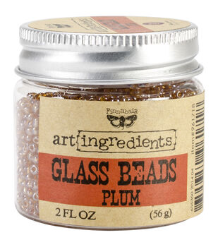 Art Ingredients Glass Beads 2oz-Plum