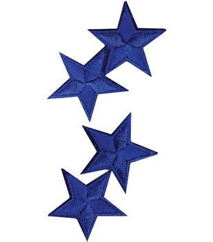 Wrights Iron-On Applique-Royal Stars