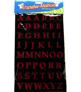 Wrights Transfer-Mation Iron-On Capital Letters Red