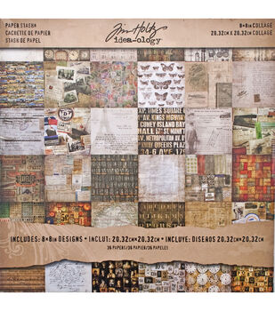 "Idea-Ology Paper Stash Paper Pad 8""X8"" 36/Pkg-Collage"