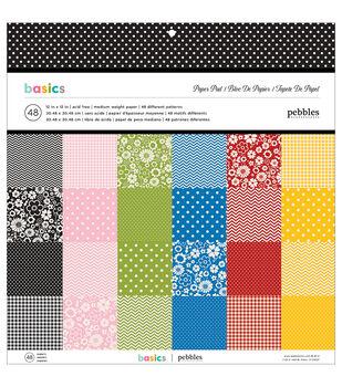 Pebbles Basics Paper Pad 12''x12''