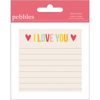 Pebbles Love You More/Girl Sticky Notes Pad