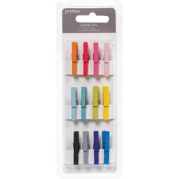 Pebbles Basics Clothes Pins Multi-Color Mini