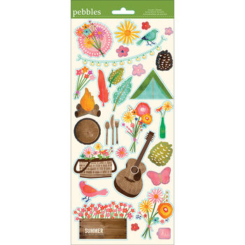 Pebbles Lakeside Cardstock Stickers Icon