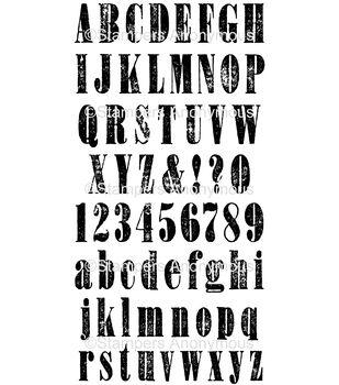 Tim Holtz® Cling Mounted Rubber Stamp Set - Mini Worn Text