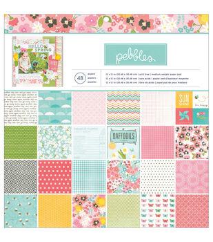Pebbles Garden Party Paper Pad 12''x12''