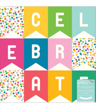 """Birthday Wishes Perforated Paper Shapes 12""""X12""""-Banners"""