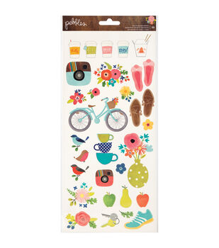 """Happy Day Cardstock Stickers 6""""X12"""" 2/Sheets-Icons & Phrases"""