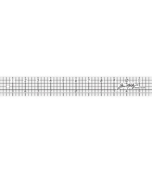Tim Holtz 12'' Design Ruler-1PK/Acrylic
