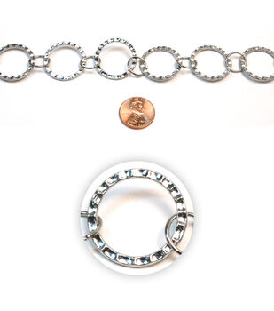 Hammered Link Metal Chain